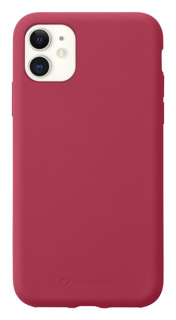 Protective silicone cover CellularLine SENSATION for Apple iPhone 11, red