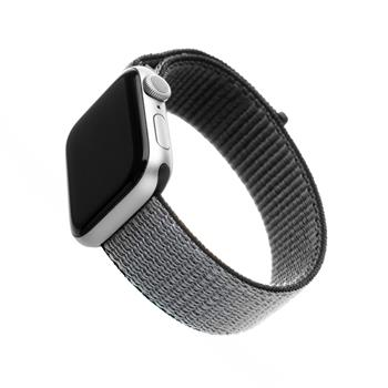Nylonový řemínek FIXED Nylon Strap pro Apple Watch 44mm/ Watch 42mm, šedý