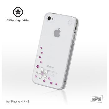 Apple iphone 4 4s zadní kryt bling my thing flower pink mix made
