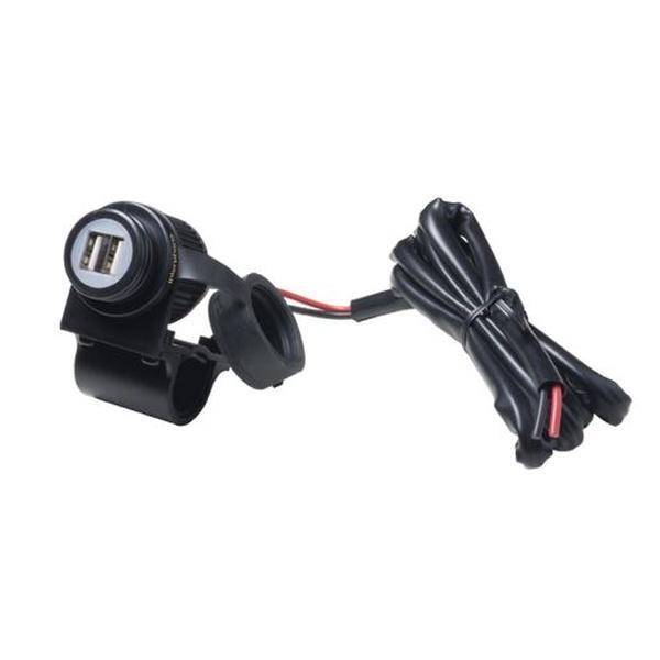 Nabíječka Interphone s 2xUSB výstupem pro motocykly, připojení na baterii, 2A