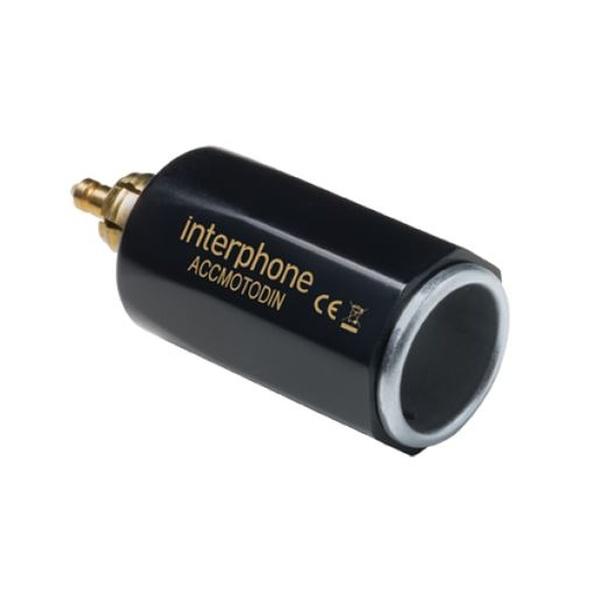 DIN adaptér Interphone z malé motocyklové zásuvky na automobilovou, slim provedení