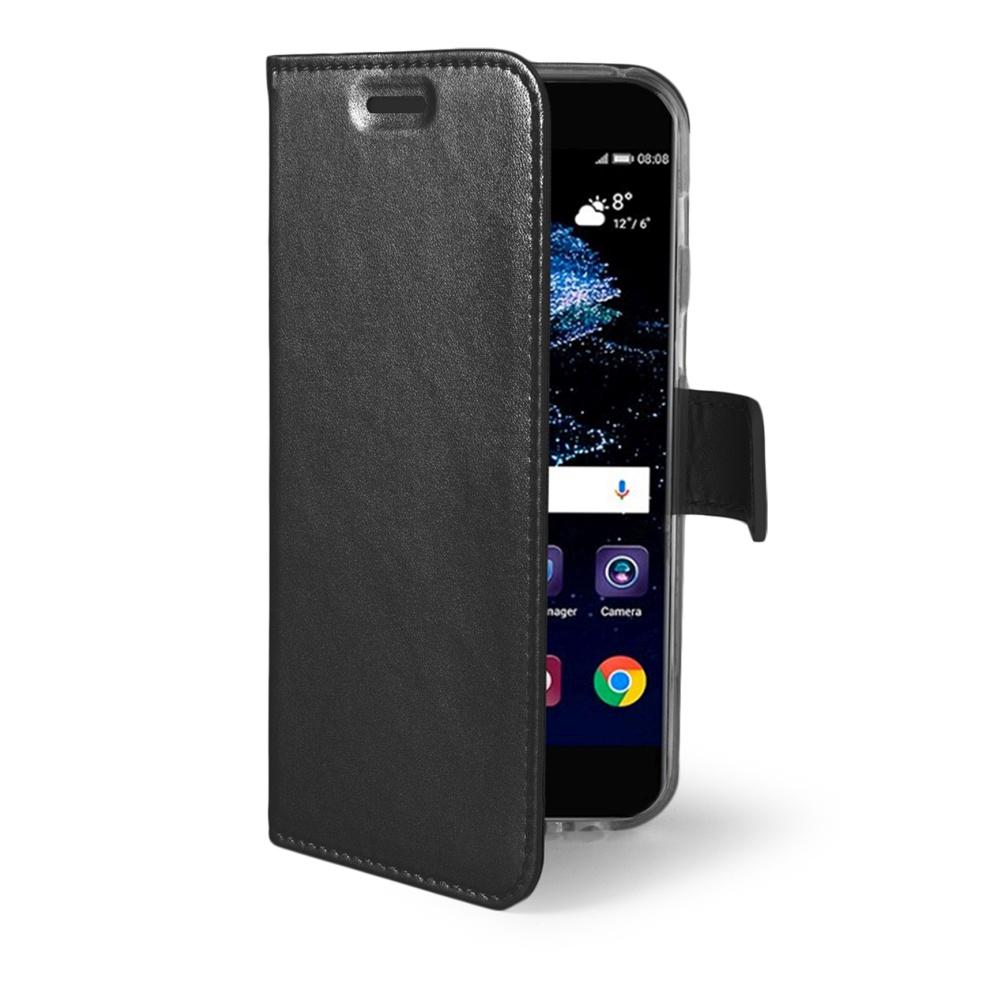 Ultra tenké pouzdro typu kniha CELLY Air pro Huawei P10 Plus, PU kůže, černé