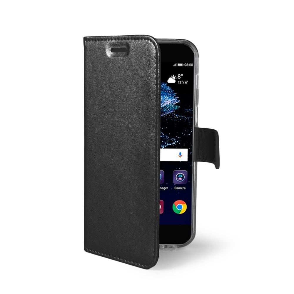 Ultra tenké pouzdro typu kniha CELLY Air pro Huawei P10 Lite, PU kůže, černé