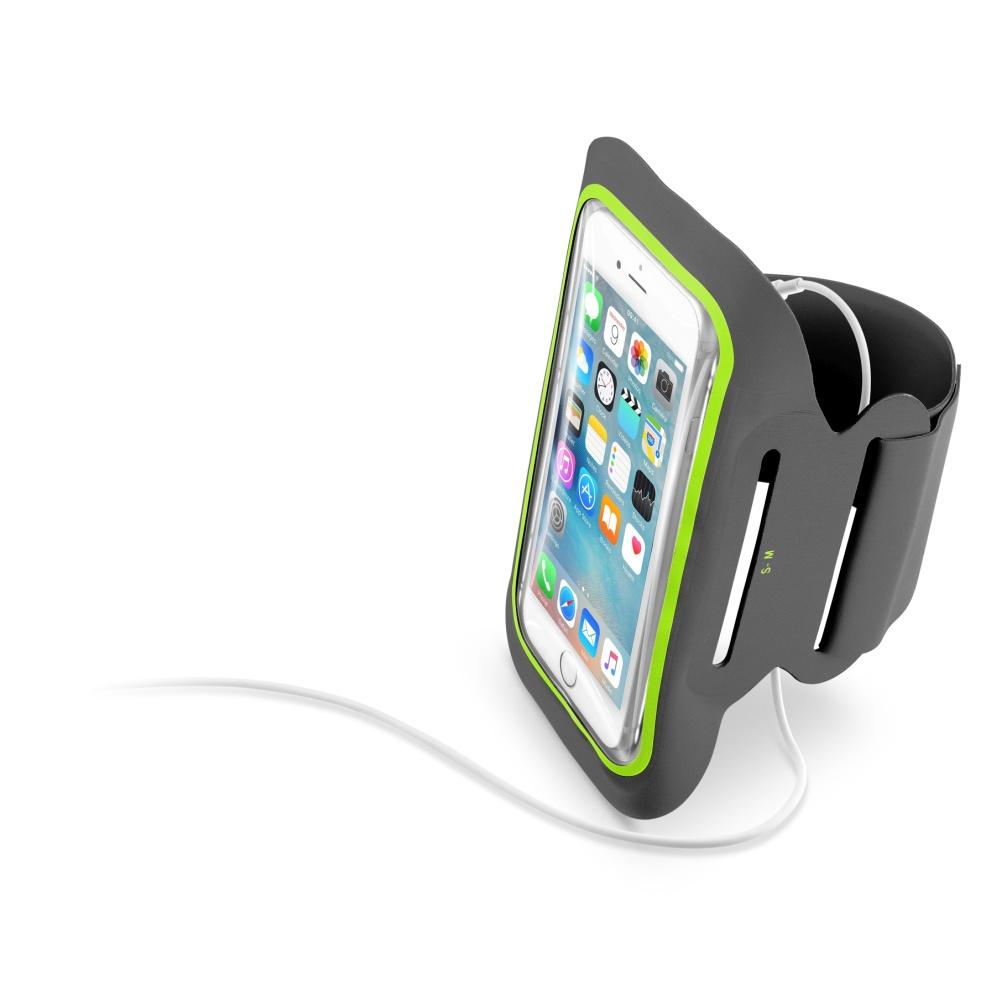 """Sportovní soft pouzdro CellularLine ARMBAND FITNESS, pro smartphony do velikosti 5,2"""", černé"""