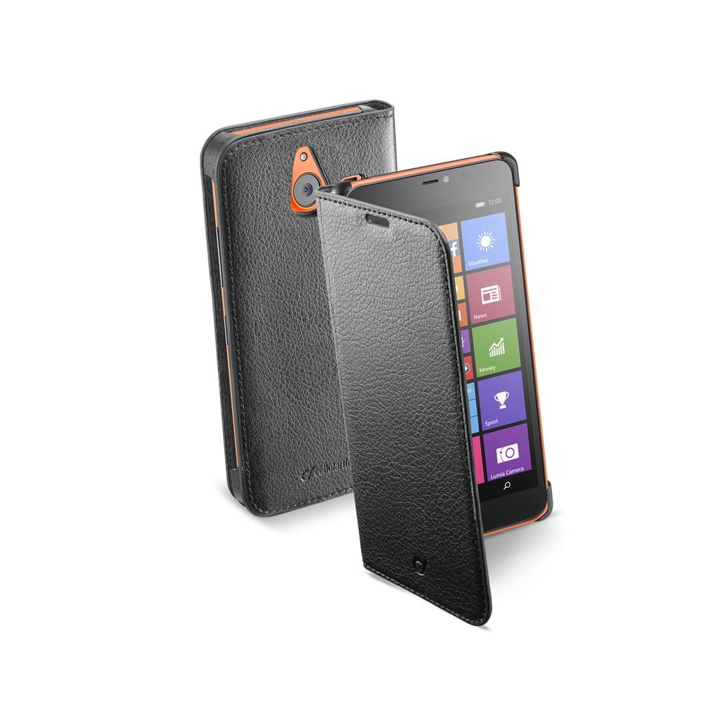 Pouzdro typu kniha CellularLine Book Essential pro Microsoft Lumia 640 XL / 640 XL Dual SIM, černé
