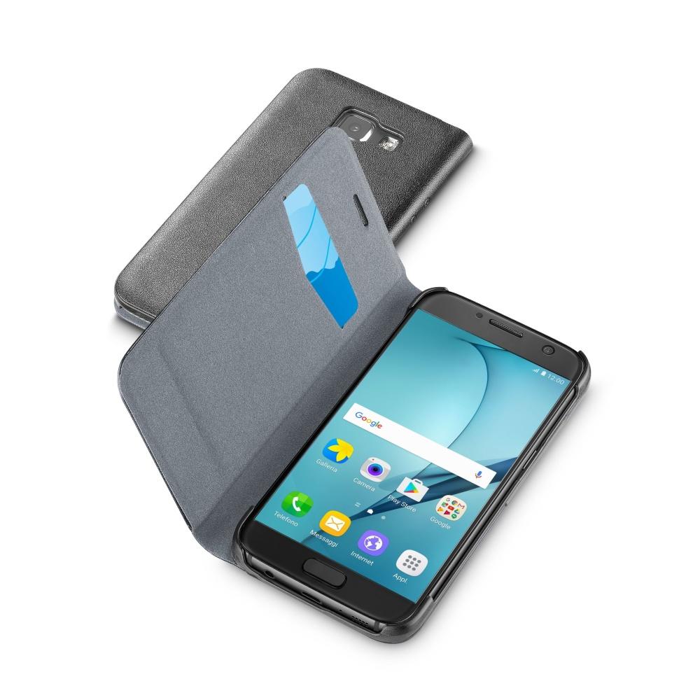 Pouzdro typu kniha CellularLine Book Essential pro Samsung Galaxy A5 (2017), černé
