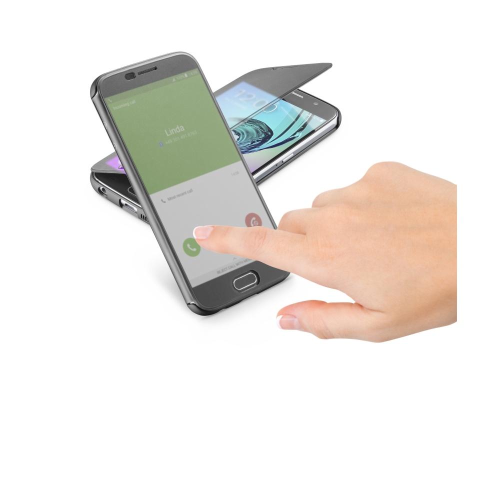 Pouzdro typu kniha Cellularline TOUCH s dotykovým čelním krytem pro Samsung Galaxy A5 (2016), černé