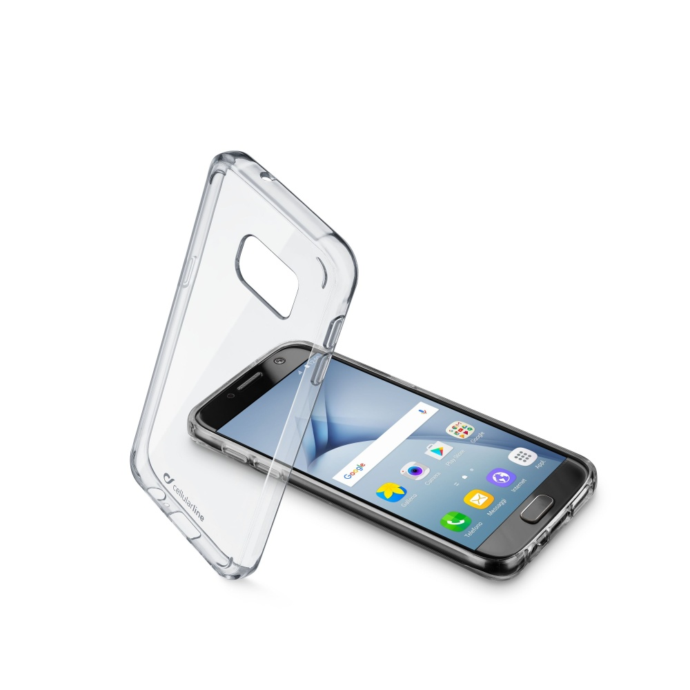 Zadní čirý kryt s ochranným rámečkem Cellularline CLEAR DUO pro Samsung Galaxy  A3 (2017)