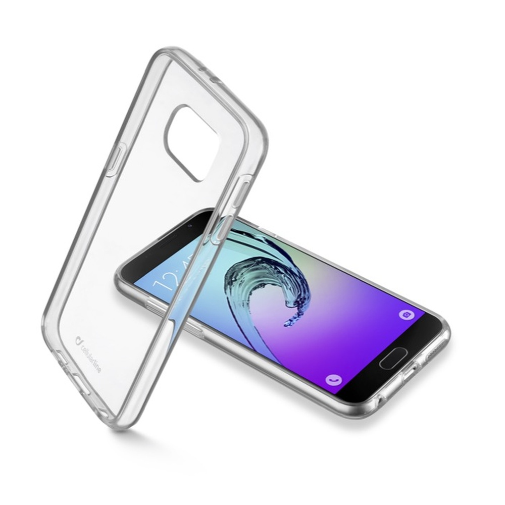 Zadní čirý kryt s ochranným rámečkem Cellularline CLEAR DUO pro Samsung Galaxy  A5 (2016)
