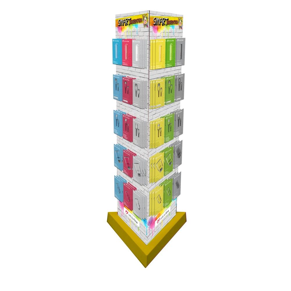 SMART GENERATION - podlahový stojan trojboký univerzální, 45 háků