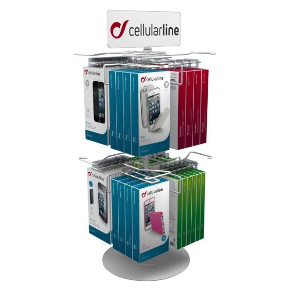 POS - Prezentační otočný stojan na pult CellularLine, 8 háků
