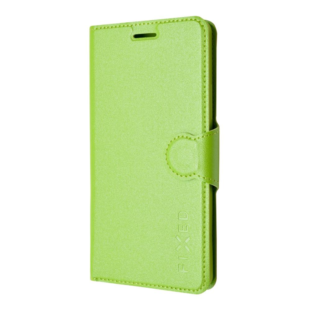 Pouzdro typu kniha FIXED s gelovou vaničkou pro Lenovo A7000, zelené