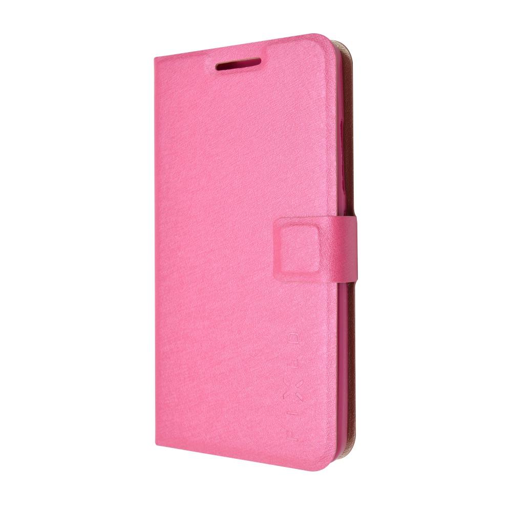 Pouzdro typu kniha FIXED s gelovou vaničkou pro Lenovo A5000, růžové
