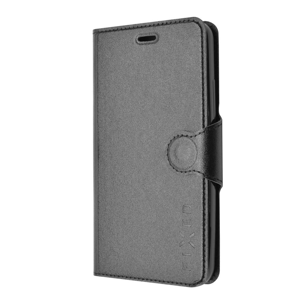 Pouzdro typu kniha FIXED s gelovou vaničkou pro Samsung Galaxy J5, černé