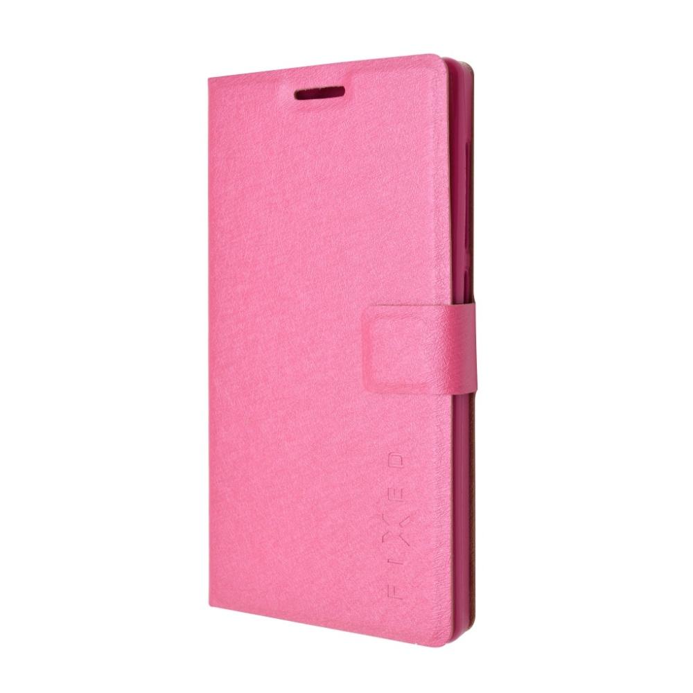 Pouzdro typu kniha FIXED s gelovou vaničkou pro Honor 7, růžové