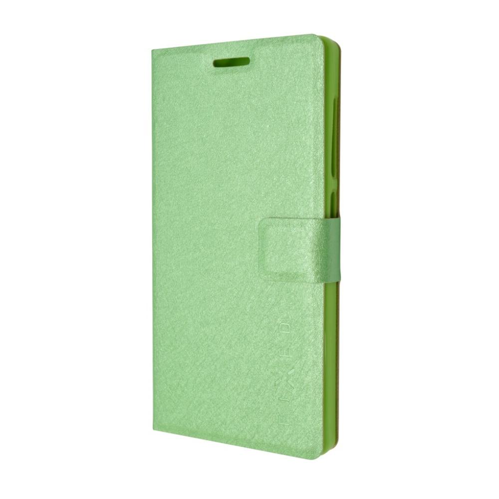 Pouzdro typu kniha FIXED s gelovou vaničkou pro Microsoft Lumia 650, zelené