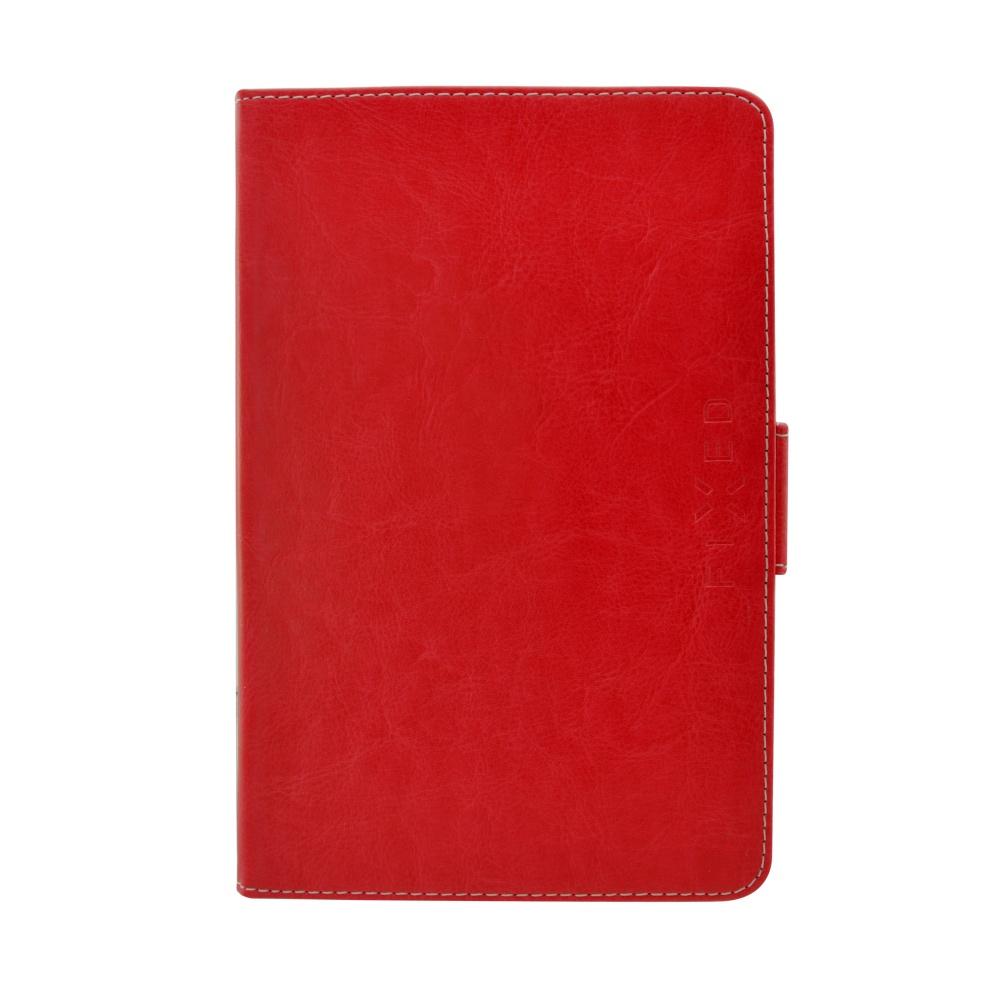 """Pouzdro pro 7-8"""" tablety FIXED Novel Tab se stojánkem, PU kůže, červené"""