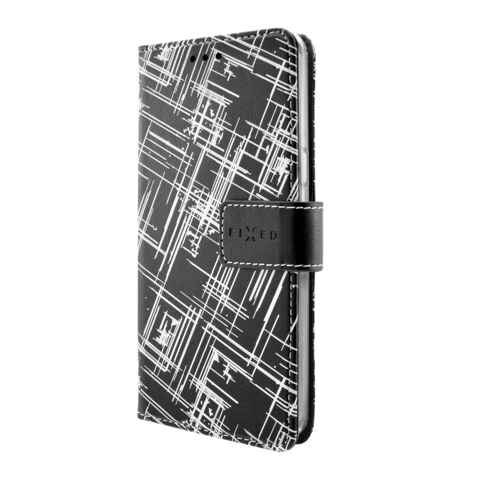 Pouzdro typu kniha FIXED Opus pro Huawei Y3 II, motiv White Stripes
