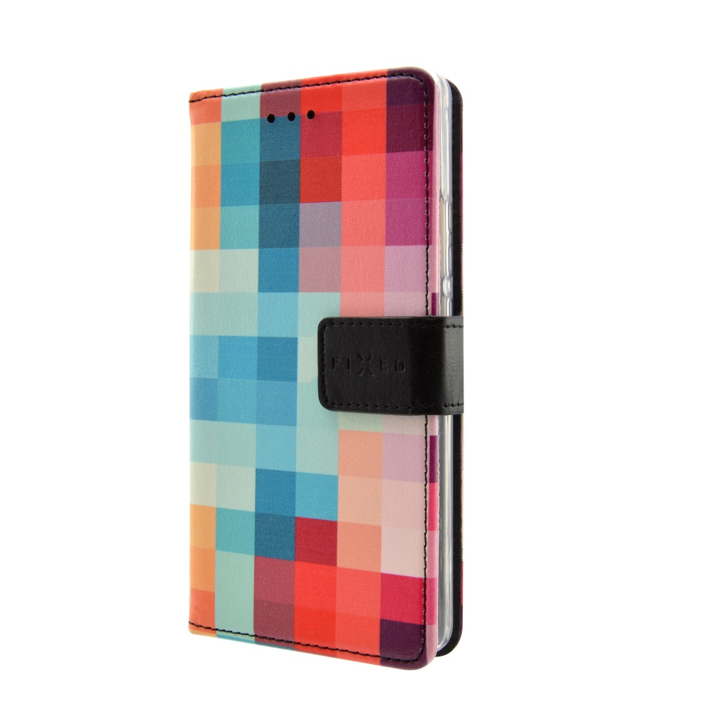 Pouzdro typu kniha FIXED Opus pro Huawei Y6 II Compact, motiv Dice