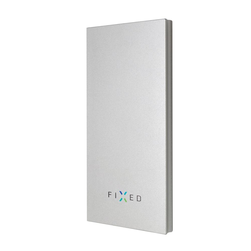 Powerbanka FIXED Zen 8000 v luxusním hliníkovém provedení, stříbrná