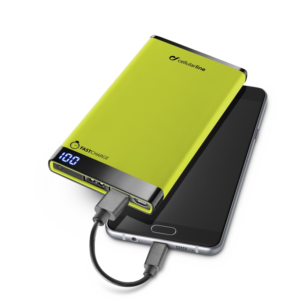 Prémiová powerbanka CellularLine FREEPOWER MANTA, 6000mAh, zelená