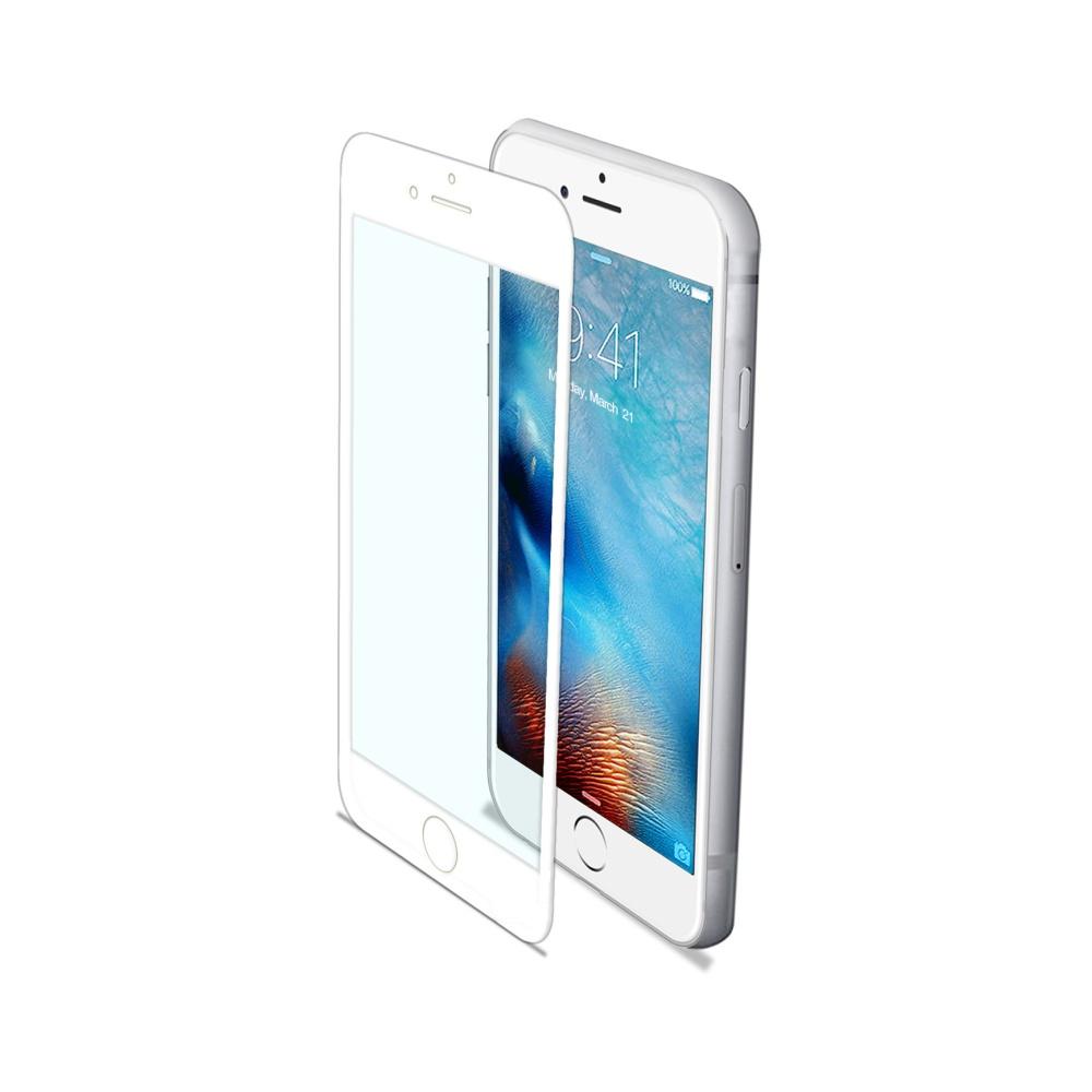 Ochranné tvrzené sklo CELLY Glass pro Apple iPhone 7/8, bílé (sklo do hran displeje, anti blue-ray)