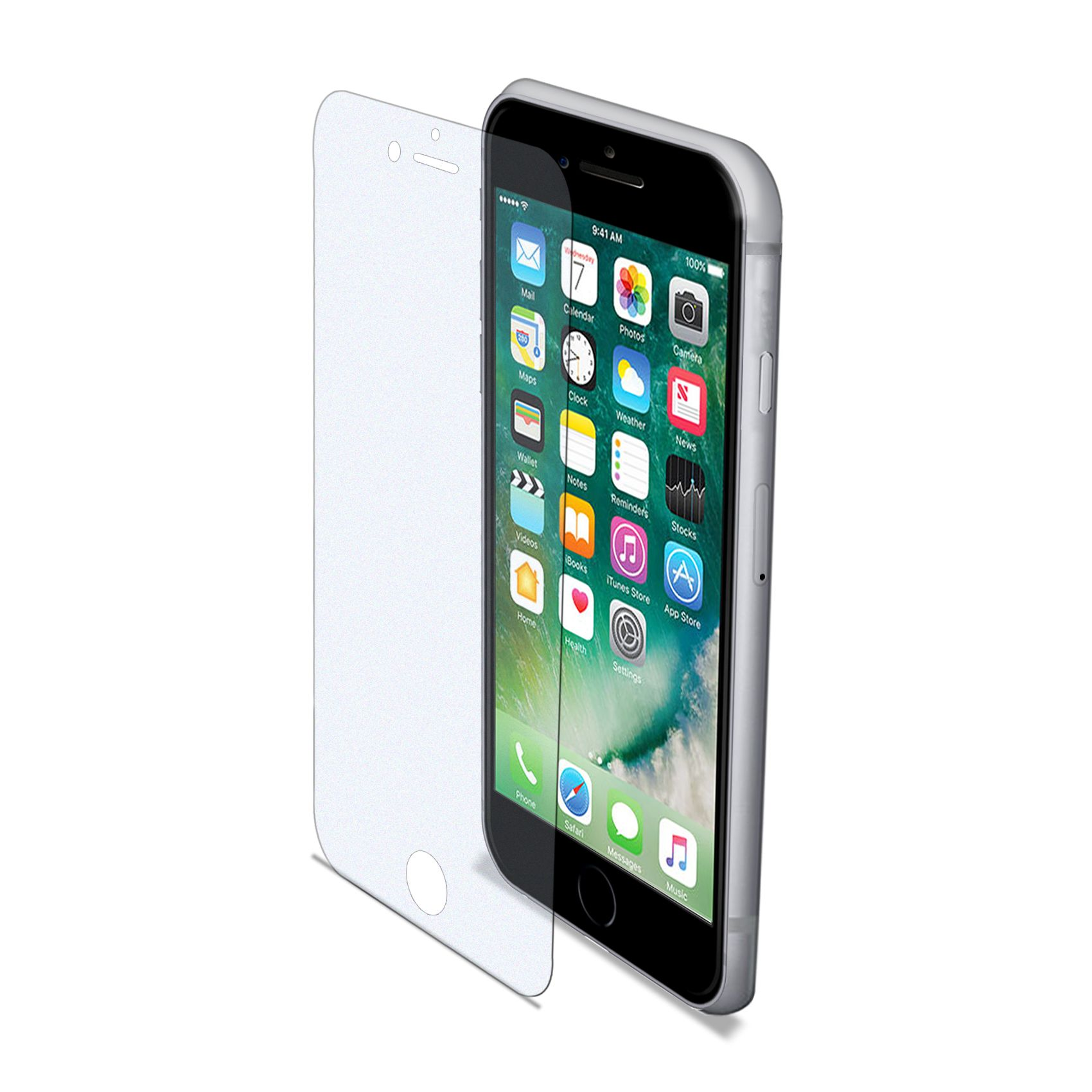 Ochranné tvrzené sklo CELLY Glass pro Apple iPhone 7 Plus/8 Plus, matné