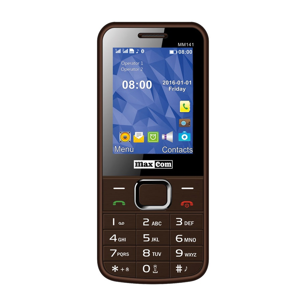 Mobilní telefon Maxcom MM141, DualSIM, hnědý