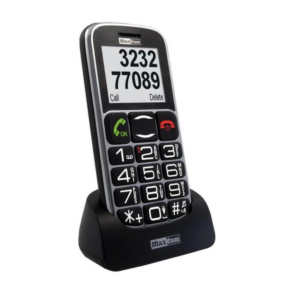 Mobilní telefon pro seniory MAXCOM MM462, černý