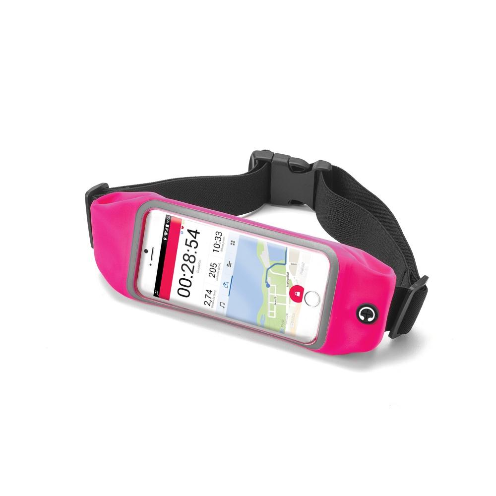 """Sportovní neoprénové pouzdro CELLY RunBelt View, pro telefony do 4.7"""", růžové"""
