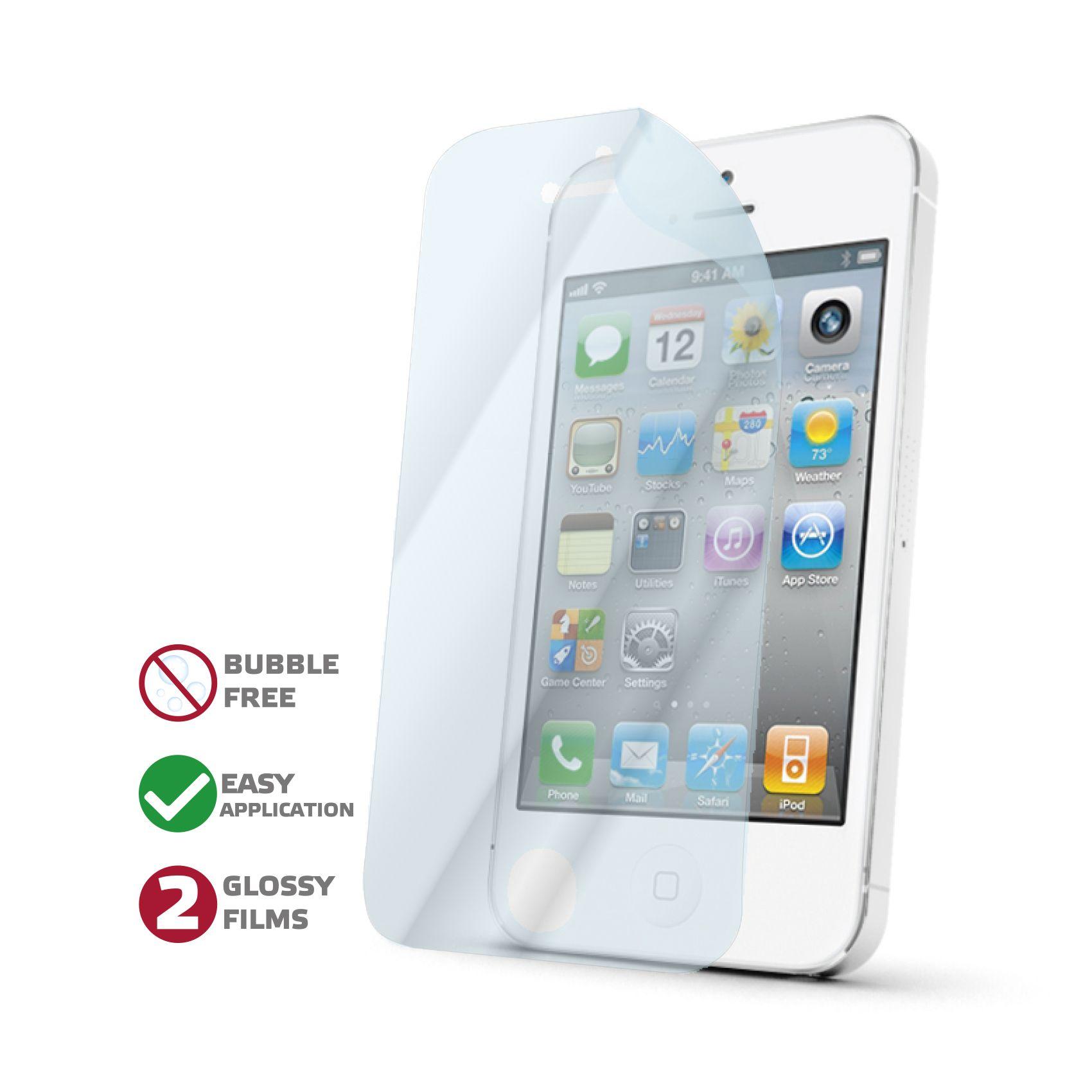 Prémiová ochranná fólie displeje CELLY Perfetto pro Apple iPhone 4/4S, lesklá, 2ks