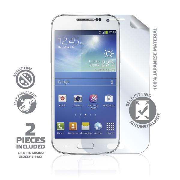 Prémiová ochranná fólie displeje CELLY Perfetto pro Samsung Galaxy S4 mini, lesklá, 2ks