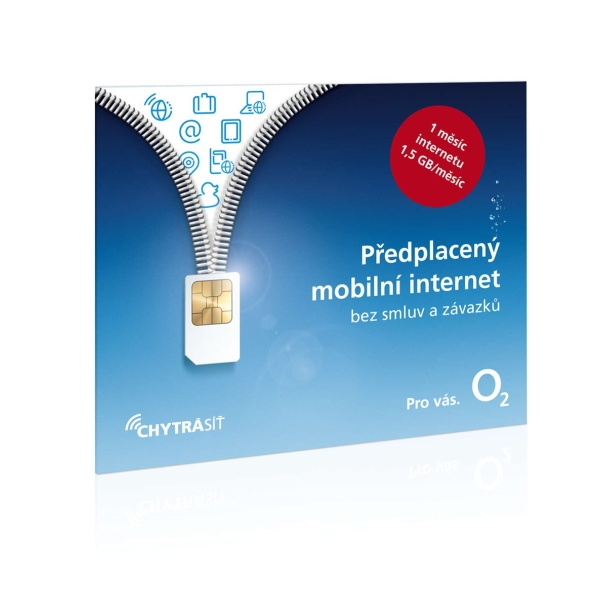 Předplacená datová SIM karta O2, tarif Předplacený mobilní internet s 1,5 GB