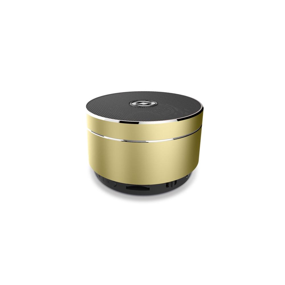 Bluetooth reproduktor CELLY Speaker, hliníková konstrukce, zlatý