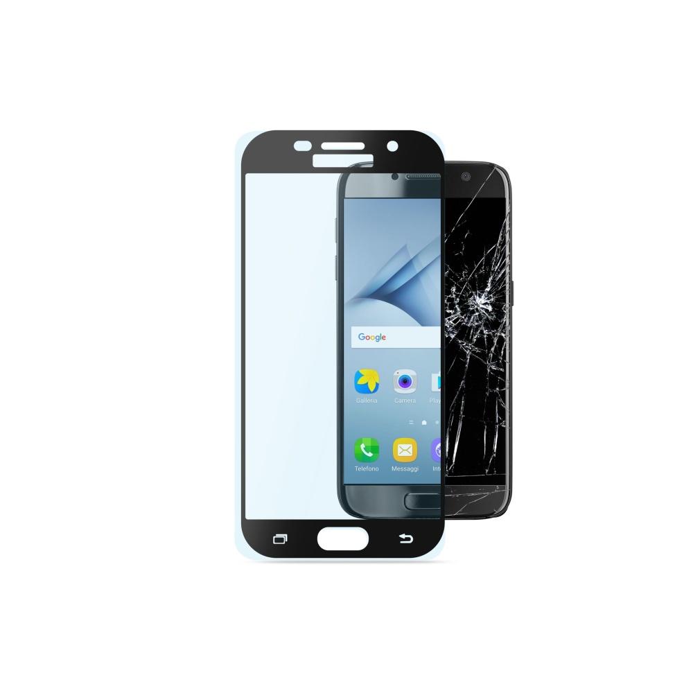 Ochranné tvrzené sklo pro celý displej Cellularline CAPSULE pro Samsung Galaxy A3 (2017), černé