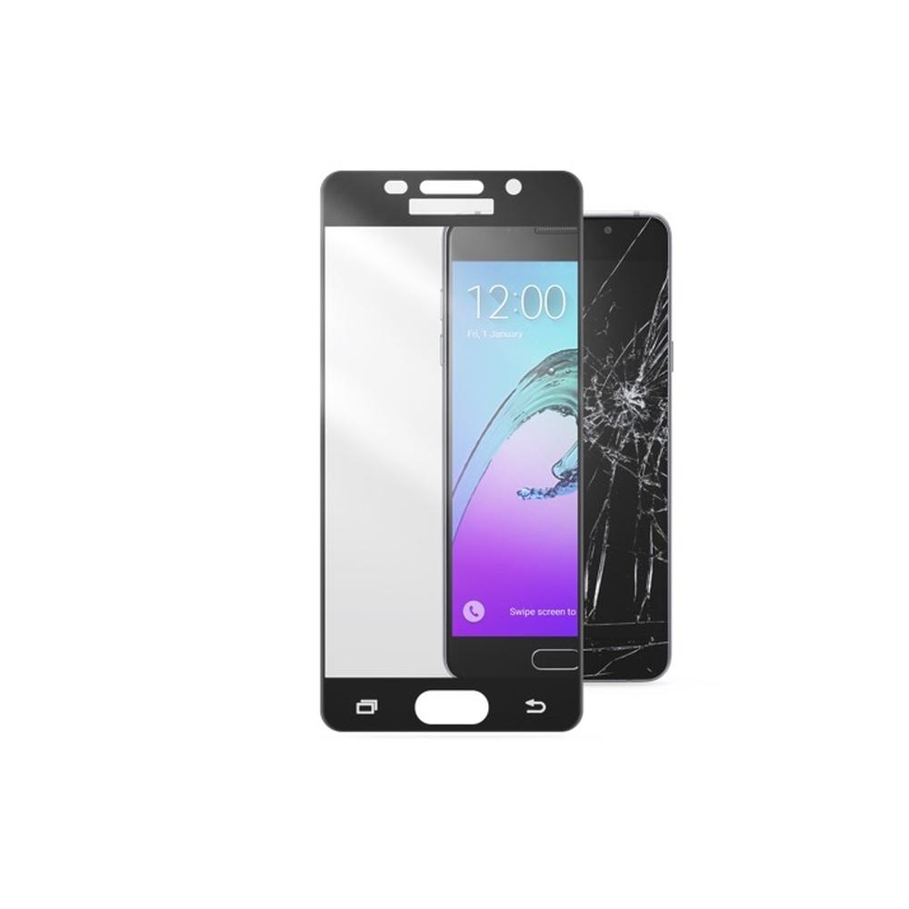 Ochranné tvrzené sklo pro celý displej CellularLine CAPSULE pro Samsung Galaxy A5 (2016), černé