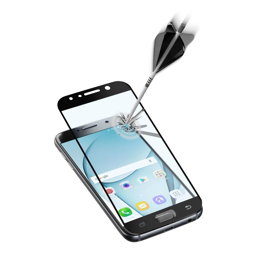 Ochranné tvrzené sklo pro celý displej Cellularline CAPSULE pro Samsung Galaxy A7 (2017), černé