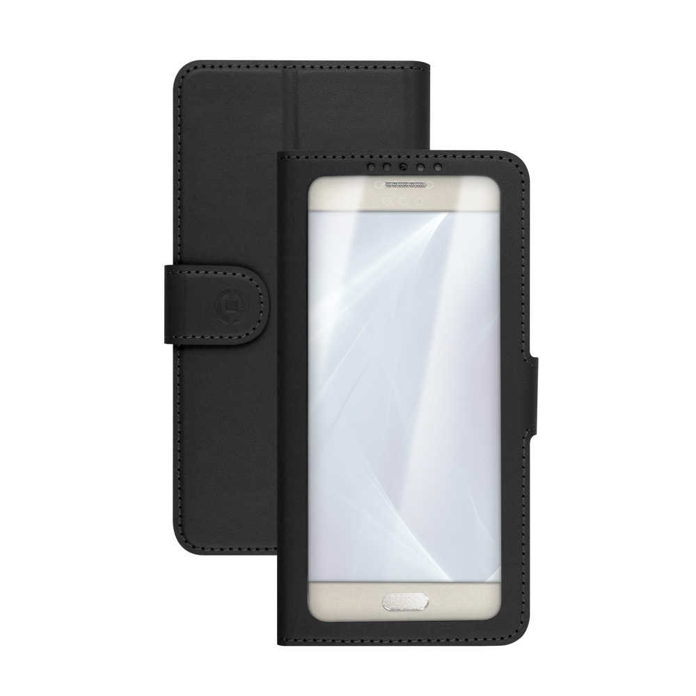 "Pouzdro typu kniha CELLY View Unica, velikost XL, 4.5"" - 5"", černé"