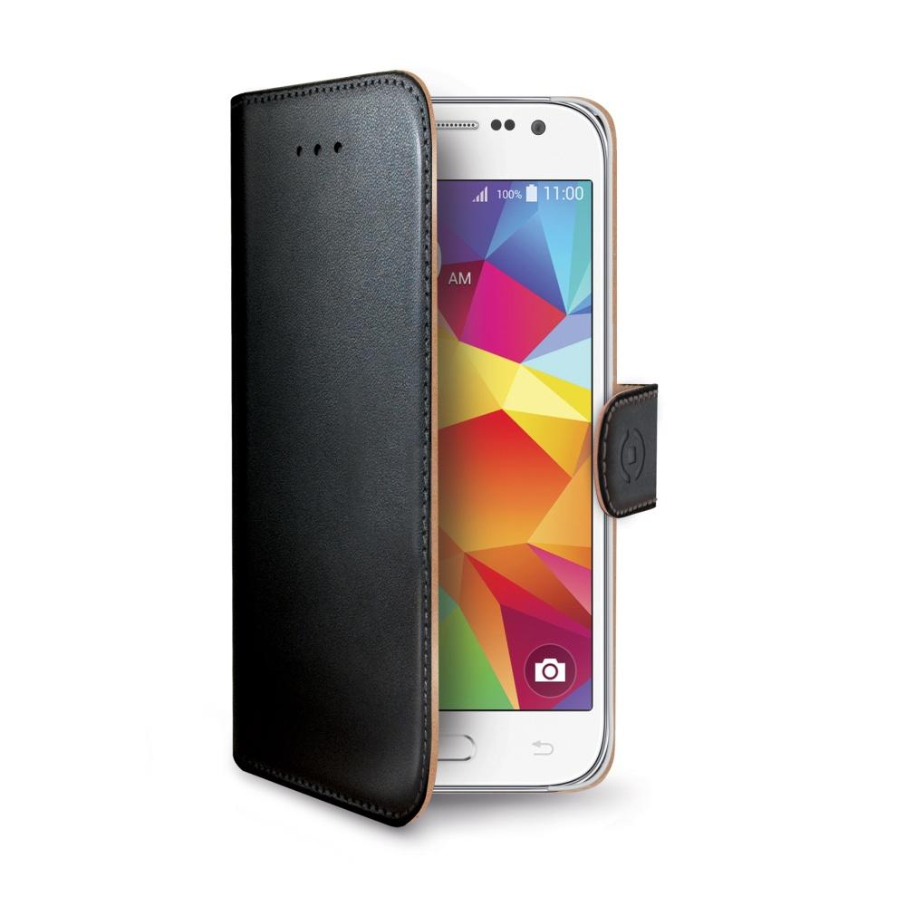 Pouzdro typu kniha CELLY Wally pro Samsung Galaxy Core Prime, PU kůže, černé