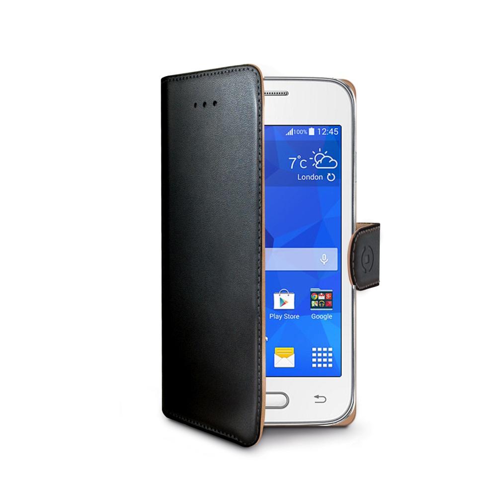 Pouzdro typu kniha CELLY Wally pro Samsung Galaxy Trend 2 Lite, PU kůže, černé