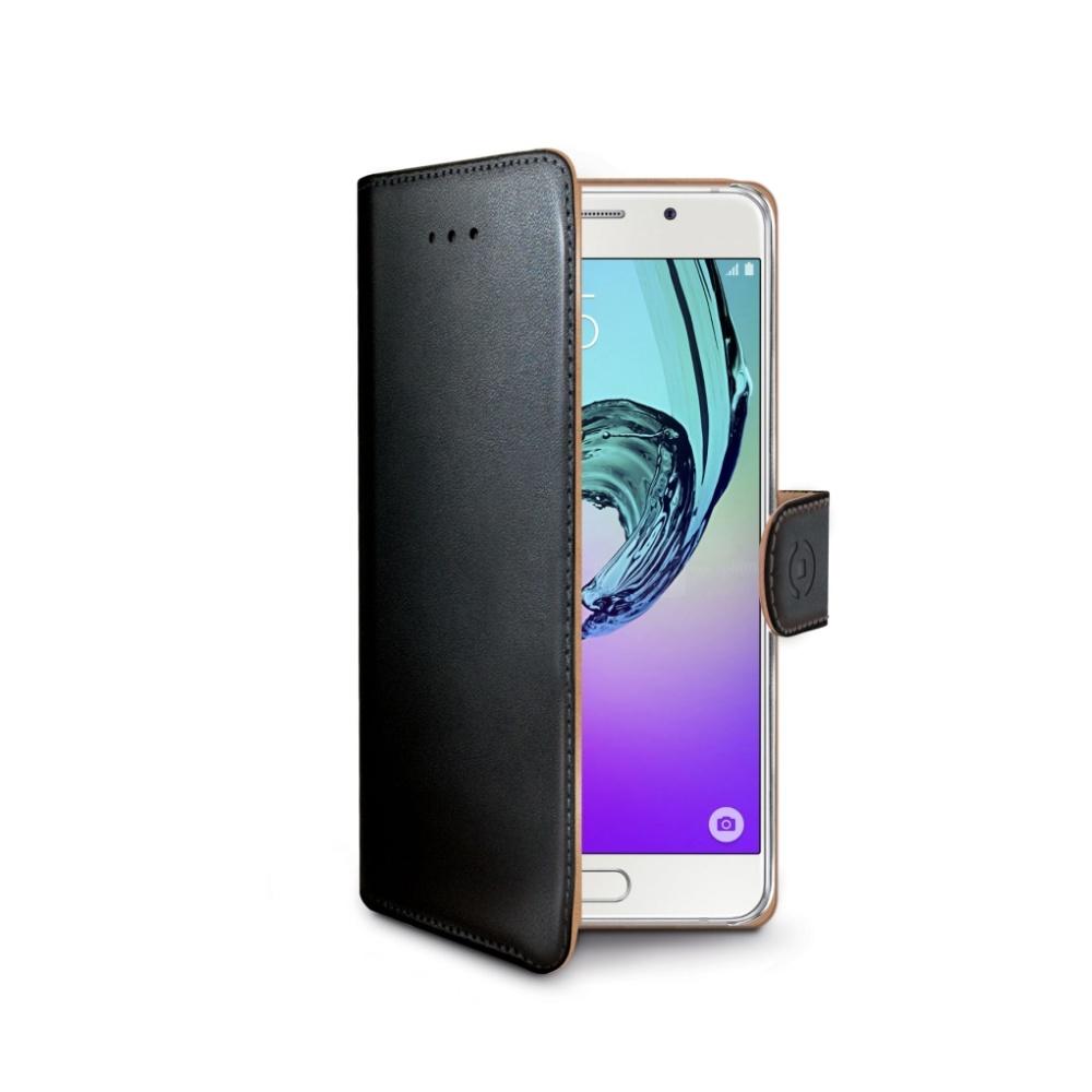 Pouzdro typu kniha CELLY Wally pro Samsung Galaxy A5 (2016), PU kůže, černé