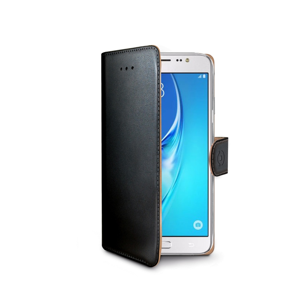 Pouzdro typu kniha CELLY Wally pro Samsung Galaxy J5 (2016), PU kůže, černé