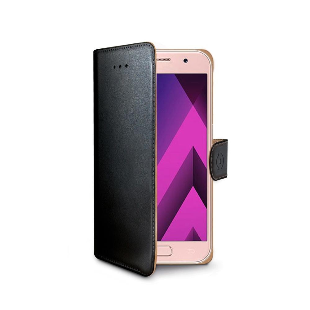 Pouzdro typu kniha CELLY Wally pro Samsung Galaxy A3 (2017), PU kůže, černé