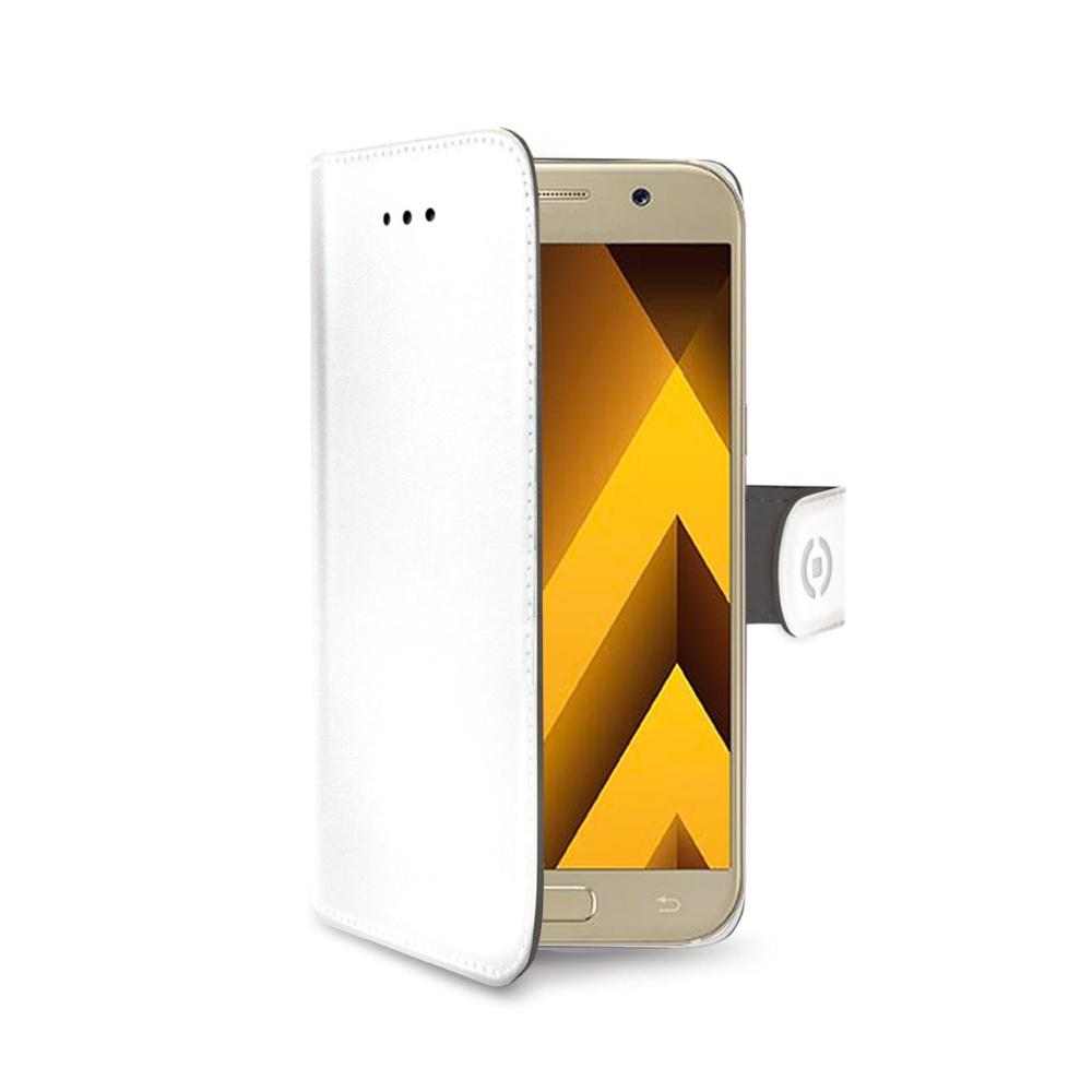 Pouzdro typu kniha CELLY Wally pro Samsung Galaxy A5 (2017), PU kůže, bílé