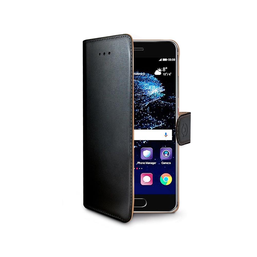 Pouzdro typu kniha CELLY Wally pro Huawei P10 Plus, PU kůže, černé